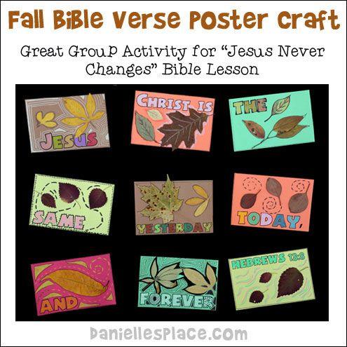 God Never Changes Craft For Kids