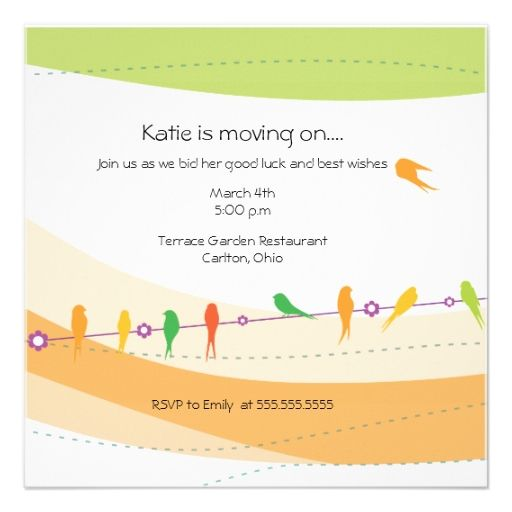 Flying Away  Farewell Party Invitation  Farewell Parties And