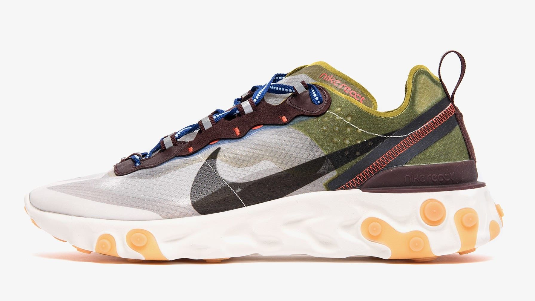 outlet store 8c79c 05818 Nike React Element 87  Dusty Peach  AQ1090-200  Moss  AQ1090-300 Release  Date   Sole Collector