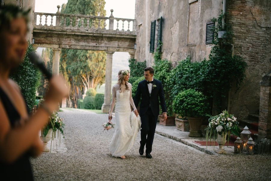 Image by Lelia Scarfiotti - Lace Allure Bridal Gown | Borgo Stomennano in Tuscany | Intimate Wedding | Romantic Pink & Navy Colour Scheme | Marco Abba Videography | Lelia Scarfiotti Photography | http://www.rockmywedding.co.uk/claudia-mike/