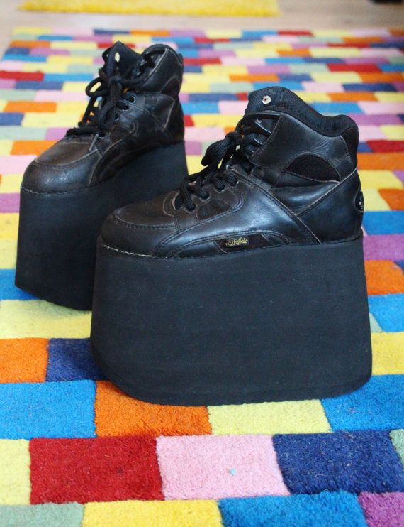 bf023efc309 Original Buffalo platform tower boots 15 cm vintage spice girls club kid s  90 s black size EUR 36