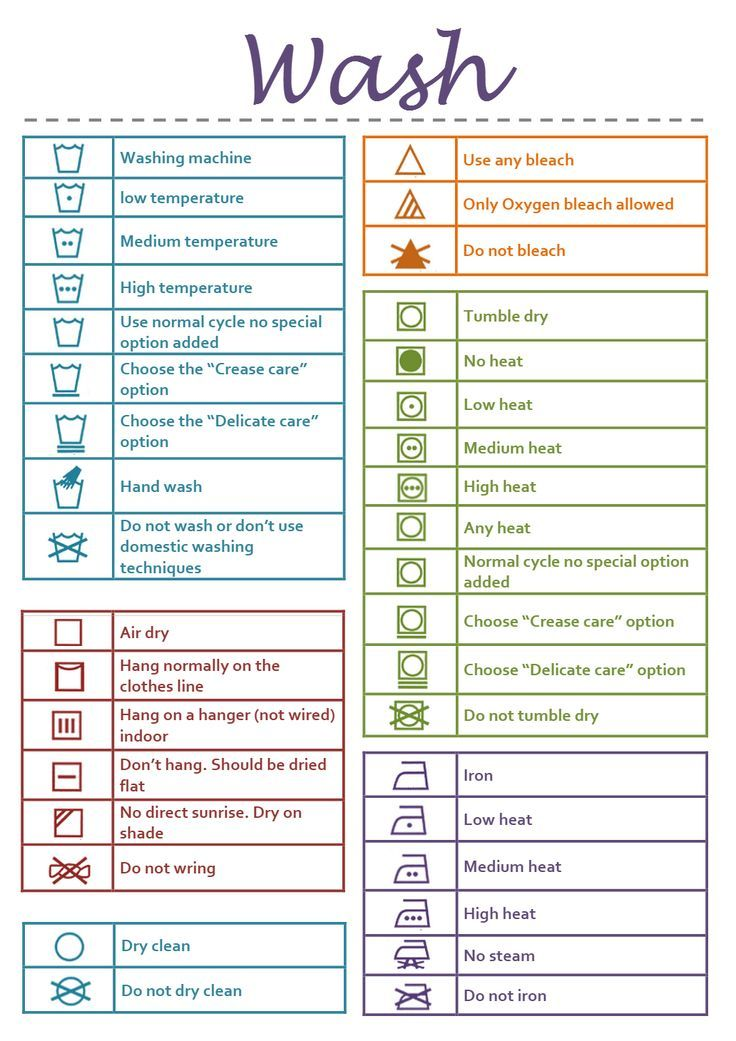 Image Result For Laundry Sorting Color Chart Instruction