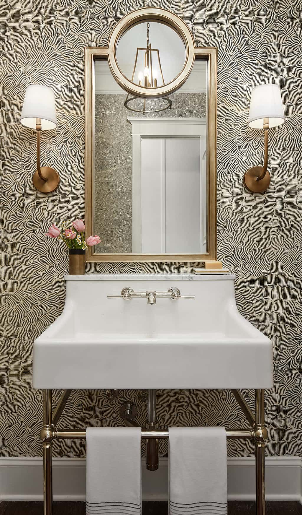 Spring Themed Powder Room Makeover with Ferguson Showrooms