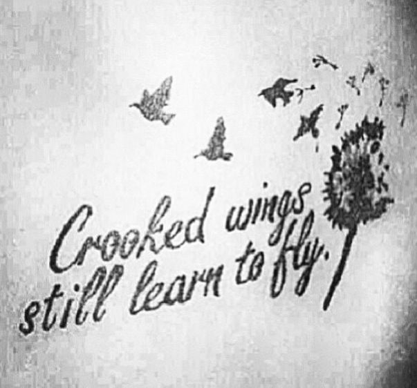 Something I need to sometimes remind myself... I love this tatto because it modifys something that i struggle with