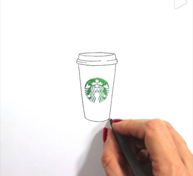 Starbucks Drink Drawing Super Easy And Cute Drawing And