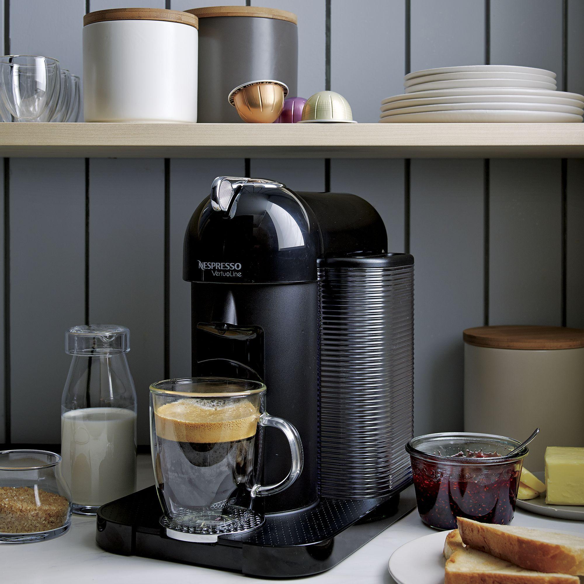 Nespresso By Breville Vertuoline Black Coffee Espresso Maker Reviews Crate And Barrel Coffee Canister Crate Barrel Coffee