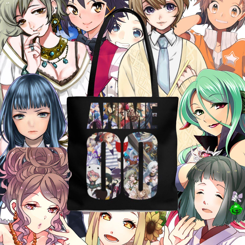Anime 00 tote bag harajuku style anime tote bag anime