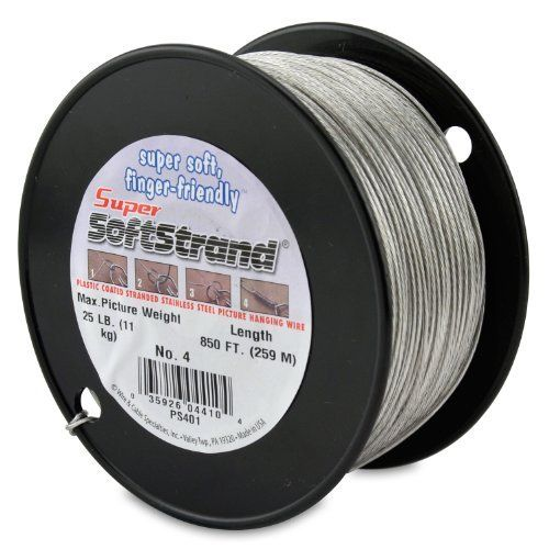 Supersoftstrand Size 4 850 Feet Picture Wire Vinyl Coated Stranded Stainless Steel By Wire Cable Speci Picture Wire Foot Pictures Picture Framing Materials
