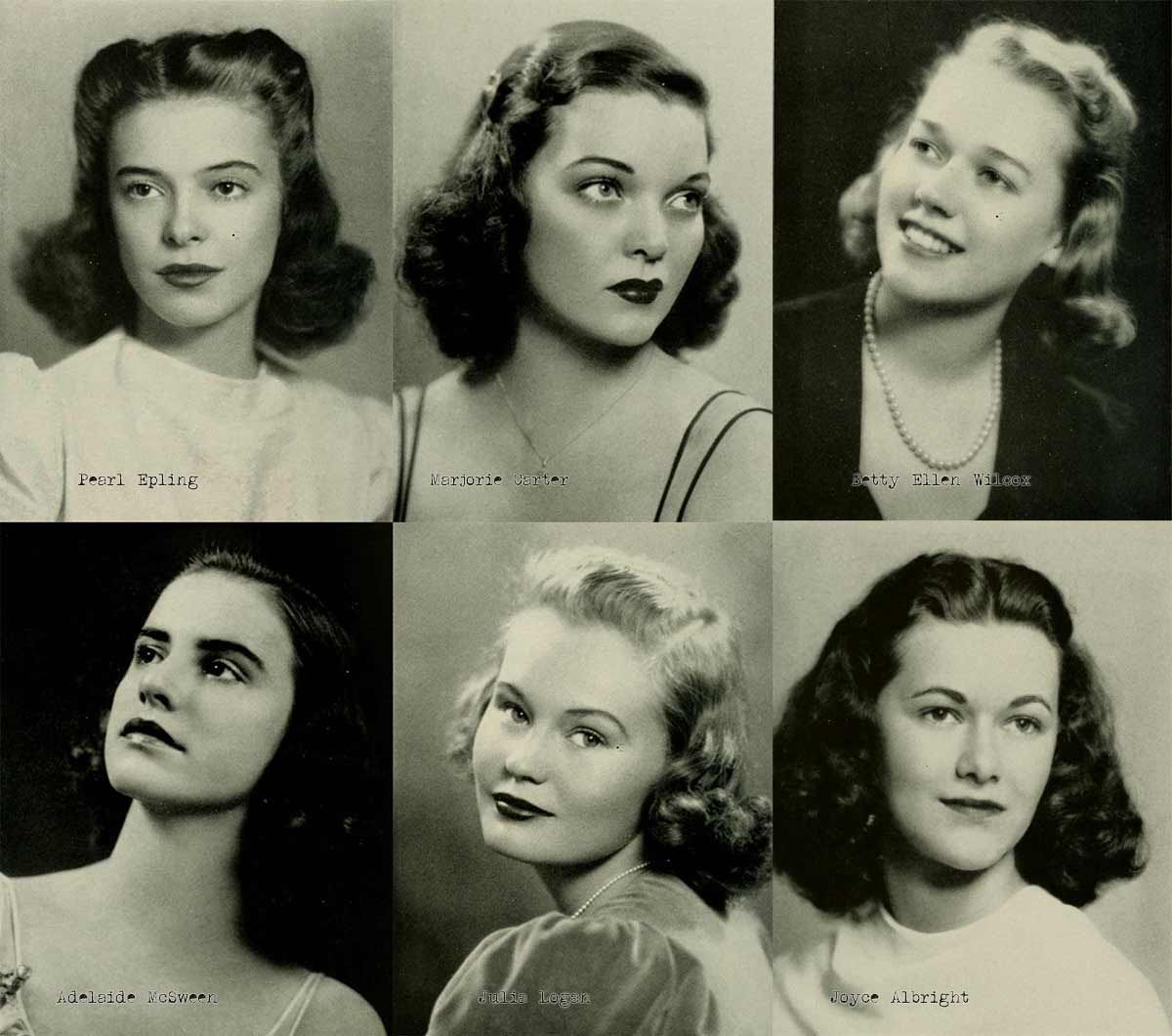 1940s College Girl Hairstyles