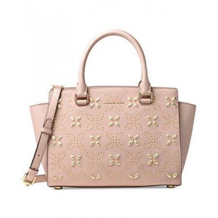 cb69ecad4100 Michael Kors Women s Selma Medium Top Zip Satchel (Floral Ballet) Leather  Satchel Handbags