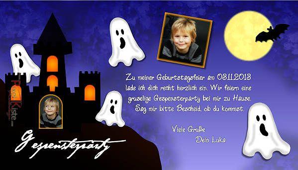 #Einladungskarten #Kindergeburtstag, #Geburtstag, #Gespensterparty,  #Halloween, #Gruselparty