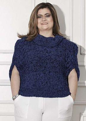 701674803 Receitas Círculo - Plus Size - Blusa Casulo | trico | Crochet blouse ...