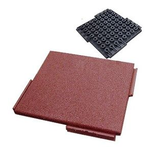 Best Interlocking Rubber Deck Paver Terra Cotta 24 X 24 X 2 400 x 300