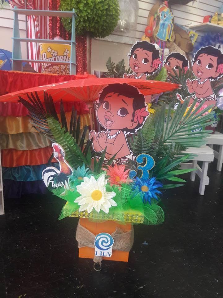 Baby Moana Centerpiece Moanna In 2019 Moana Birthday Party Theme