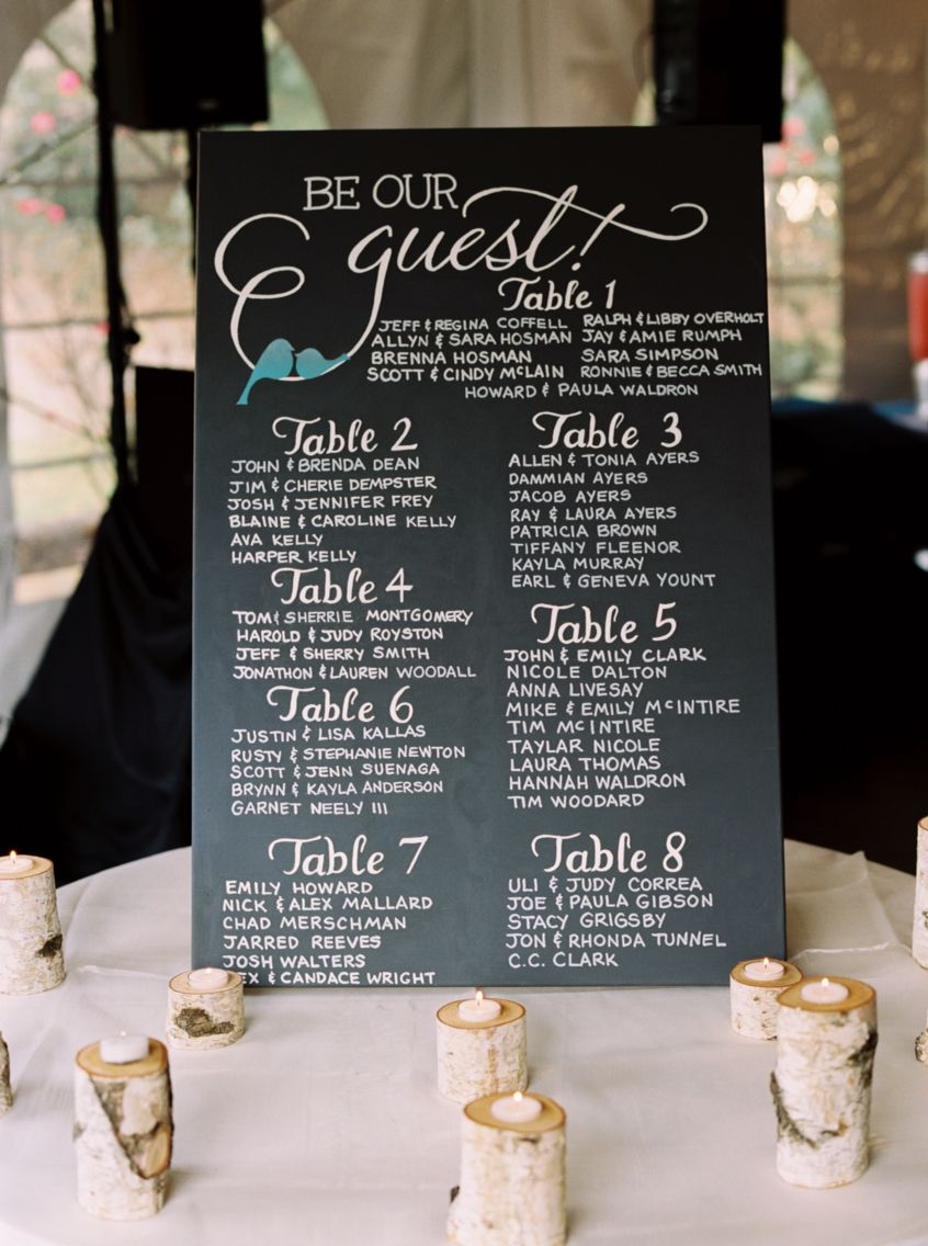 be our guest seating chart  disney inspiration for a fairytale wedding