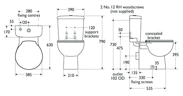 Image result for minimum size required for a toilet Toilet Details
