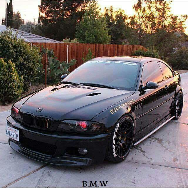 Bmw E46 M3 Black With Images Bmw Bmw E46 Sedan Bmw E46