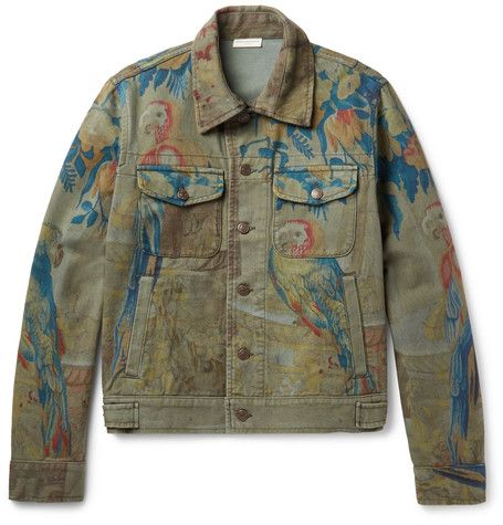 abdf2430cf DRIES VAN NOTEN Parrot Tapestry-Print Denim Jacket.  driesvannoten  cloth   coats and jackets