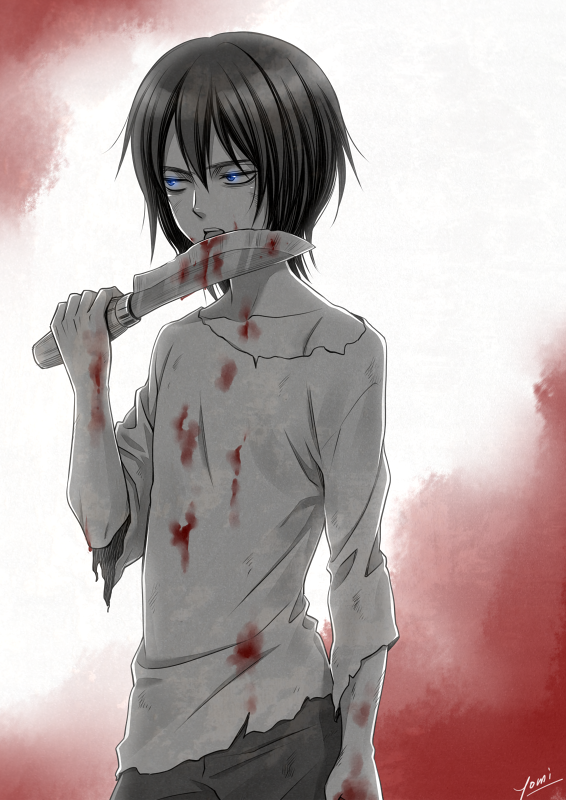 Young Levi I Like This Art Minus Licking The Knife