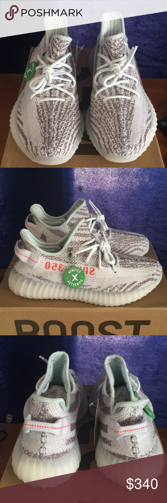 bbfabf2f Adidas Yeezy Boost 350 Blue Tint Size 9 New , comes with receipt and stockX  verification card. Where only tried on, Don't fit me. Yeezy Shoes Sneakers