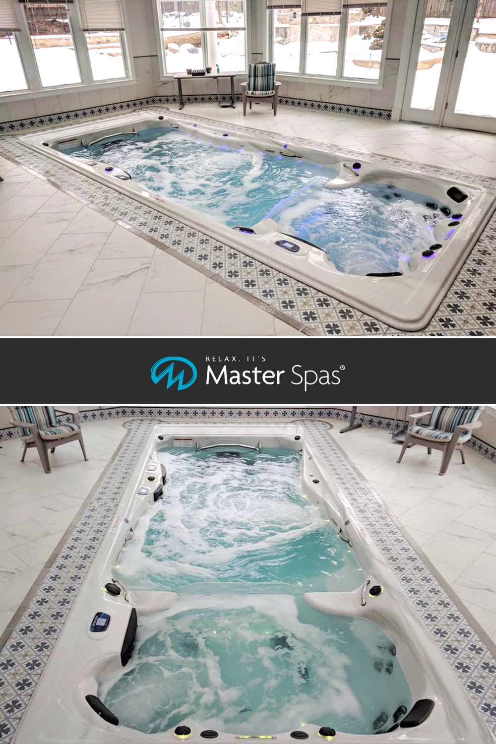 These Indoor Swim Spa Installations Will Make Your Jaw Drop Indoor Swim Spa Indoor Outdoor Pool Swim Spa