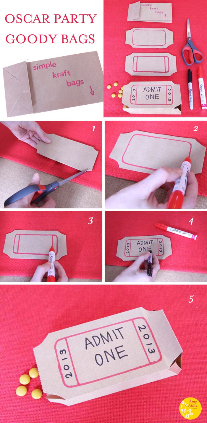 An EASY #Oscar party craft. All you need is a paper bag, sharpie ...