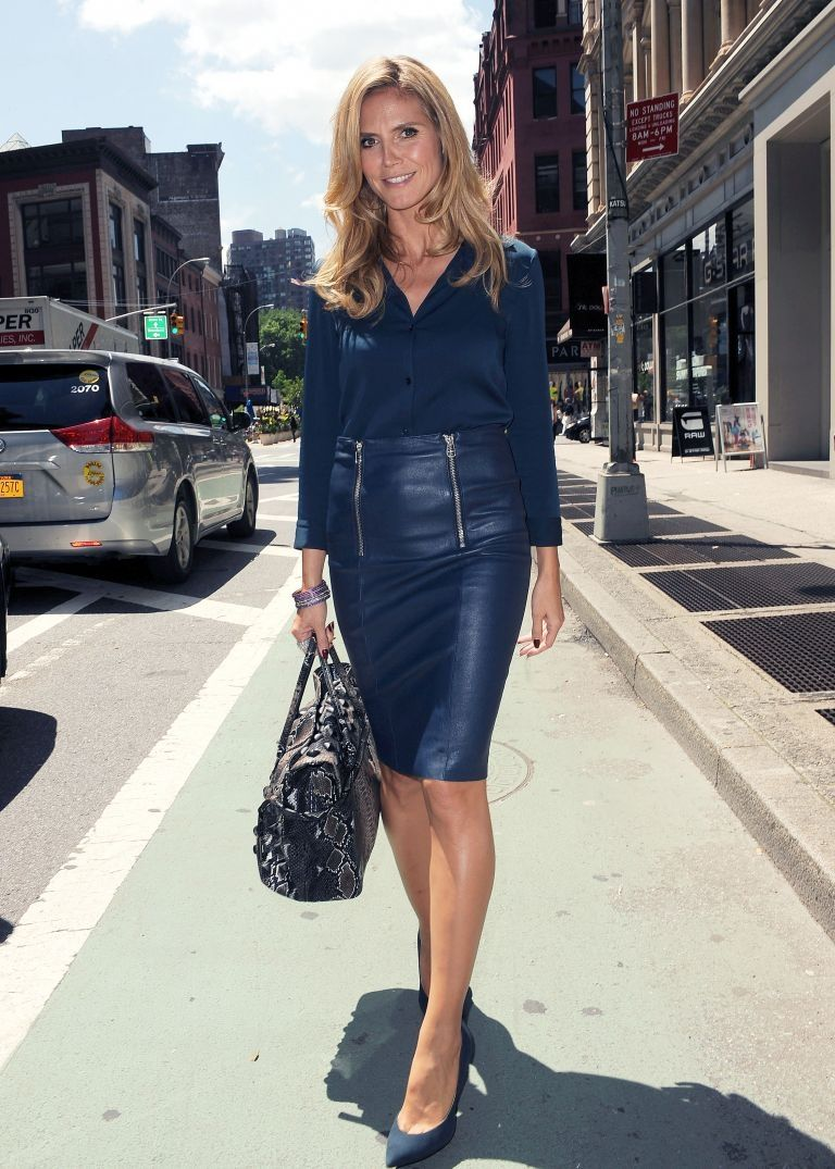Navy blue leather skirt | FM 245 Leather | Pinterest | Leather ...