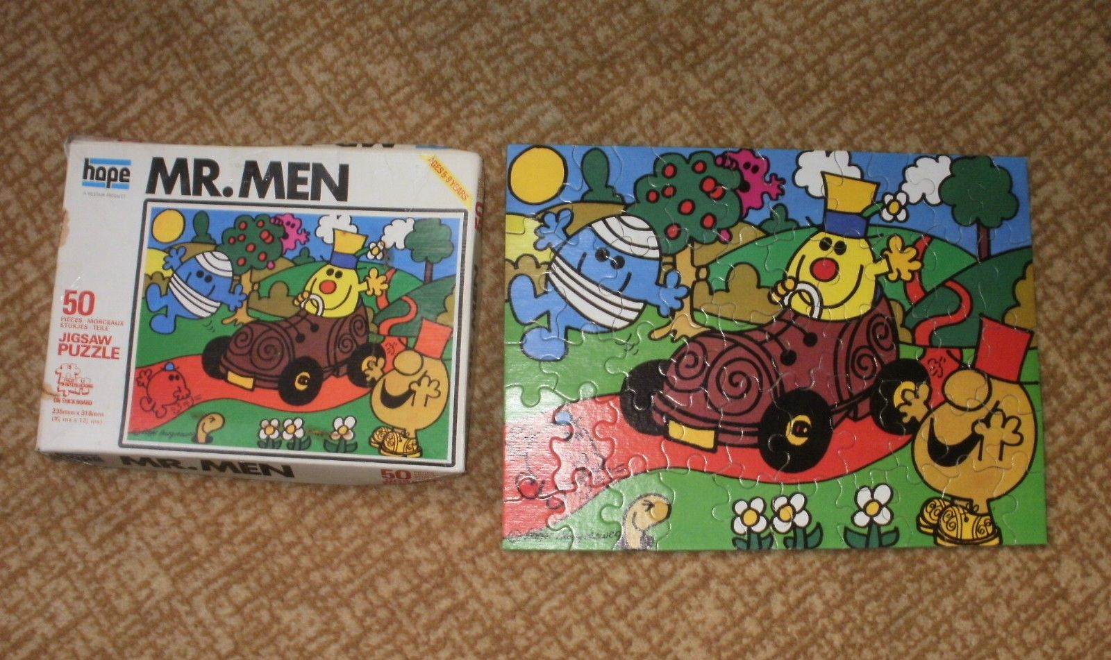 collection of 2 vintage hope jigsaw 50 piece jigsaw puzzle mr men