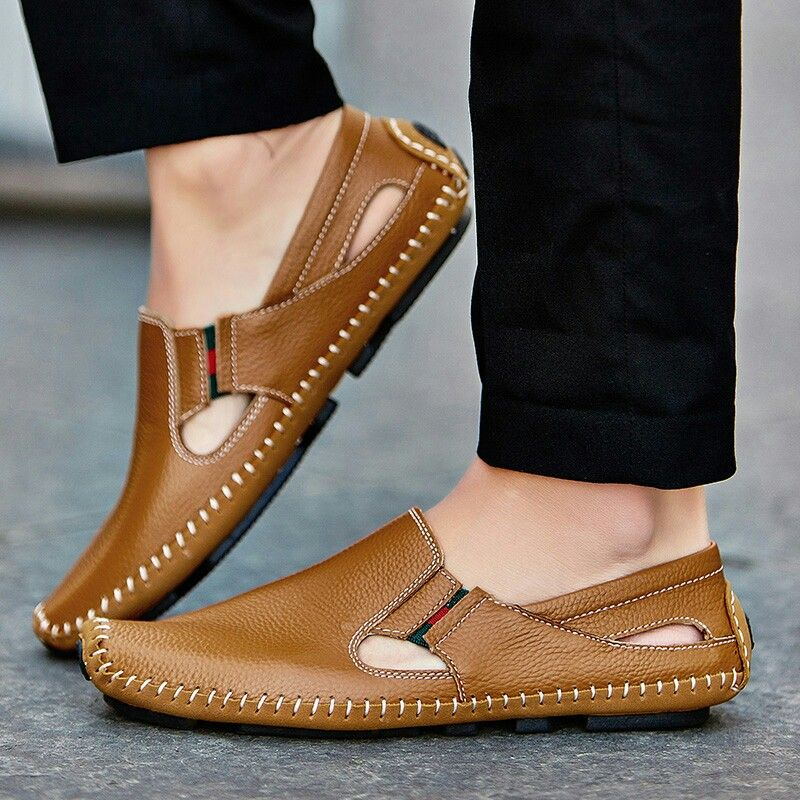 5fd26ffe5 2017 New Arrival Big Size Summer Men Driving Shoes Genuine Leather Good  Quality Soft Men Loafers Comfortable Plus Size 45 46 47