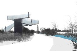 Initial Concept Design, Boston Pendulum by Paul Robbrecht. Image supplied by Robbrecht en Daem.