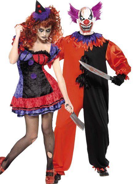 scary clown couples halloween costume group halloween costumes couples halloween costumes and family halloween - Couple Halloween Costumes Scary