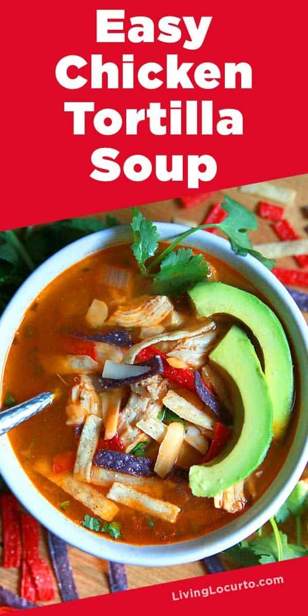 Easy Instant Pot Chicken Tortilla Soup #chickentortillasoup