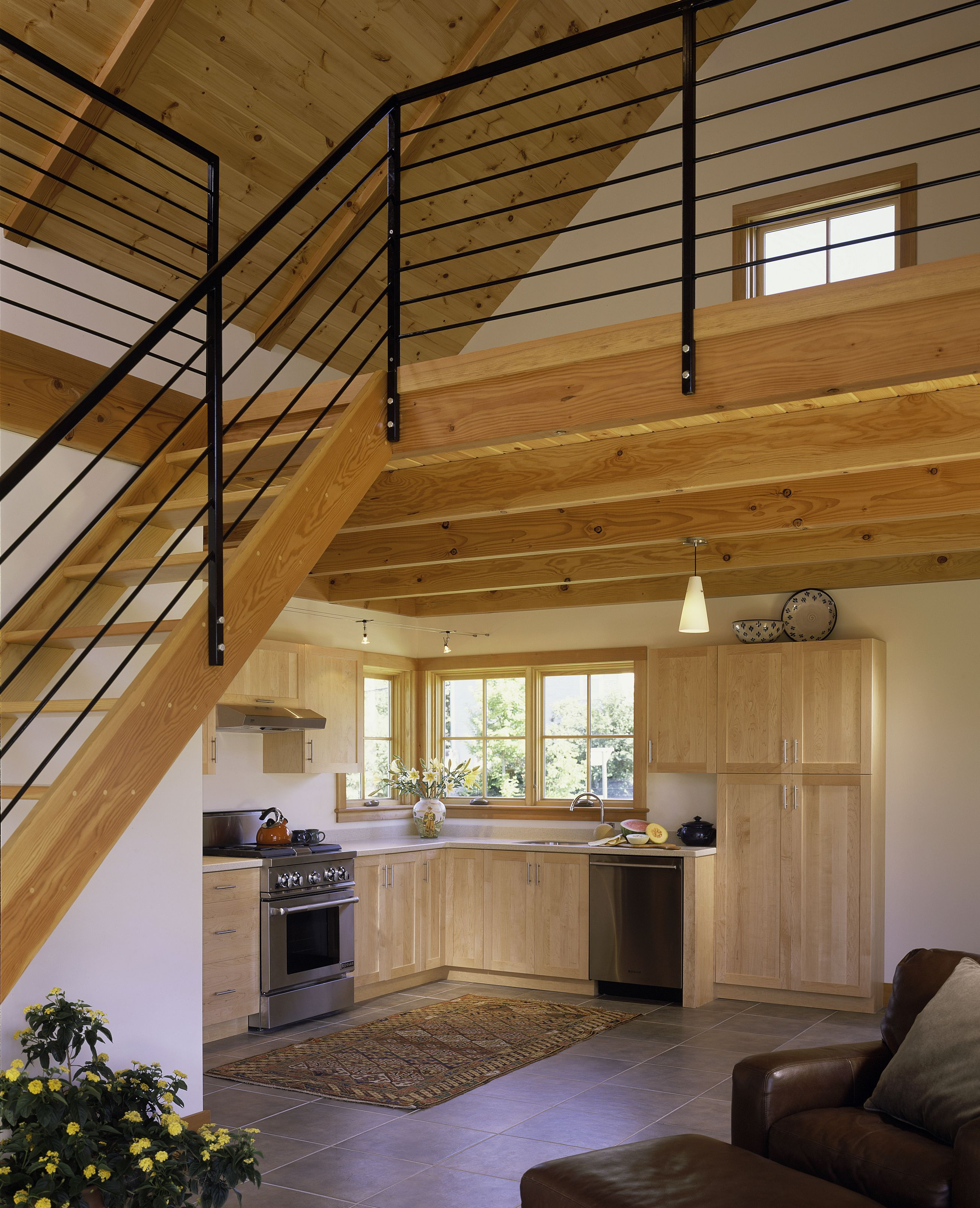 Tiny House With Loft White Painted Interior Small