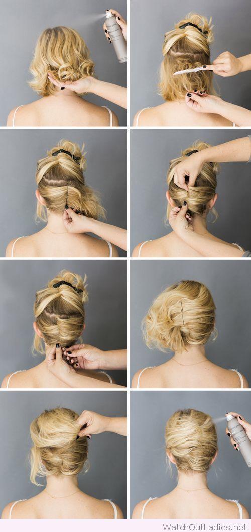 Image Result For Wedding Updos Short Hair Tutorial Short Hair Styles Easy Short Hair Updo Tutorial Short Hair Styles