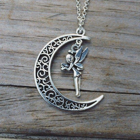 Fairy Moon Necklace #fairy #moon #necklaces #necklace #moonnecklace #etsy #etsyseller #etsyshop #etsyfinds #ootd #jewelry #picoftheday #photooftheday #pickoftheday #style #shopsmall #shophandmade #handmade #giftsforher