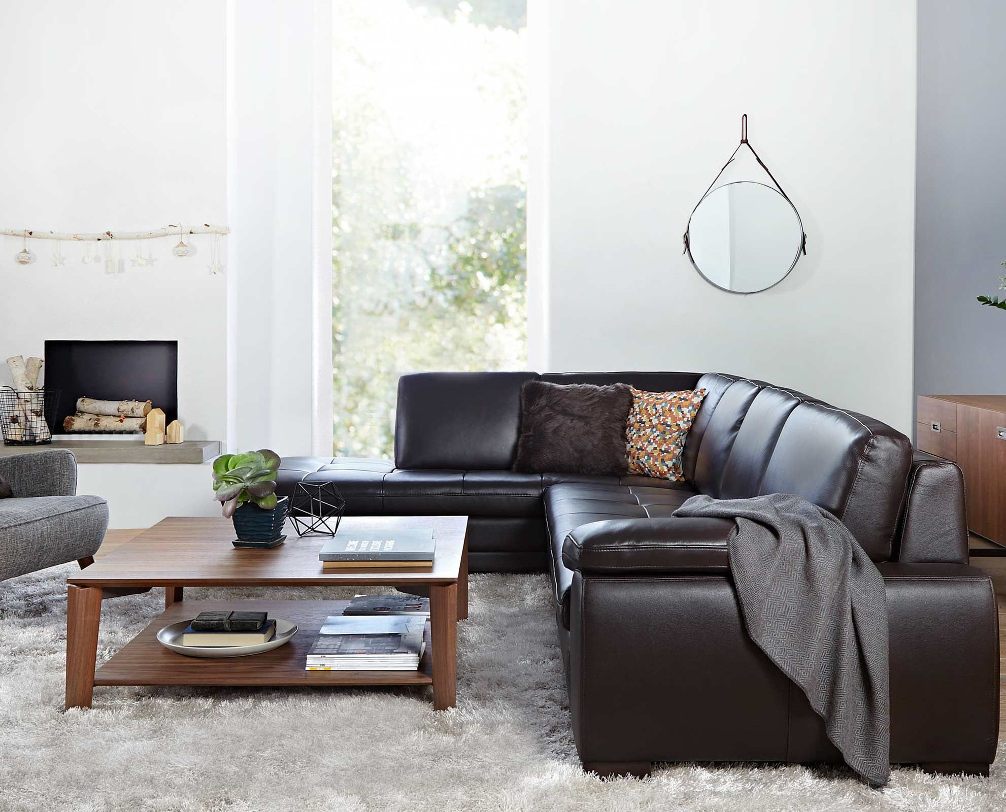 Cercis Leather Sectional Couches Pinterest