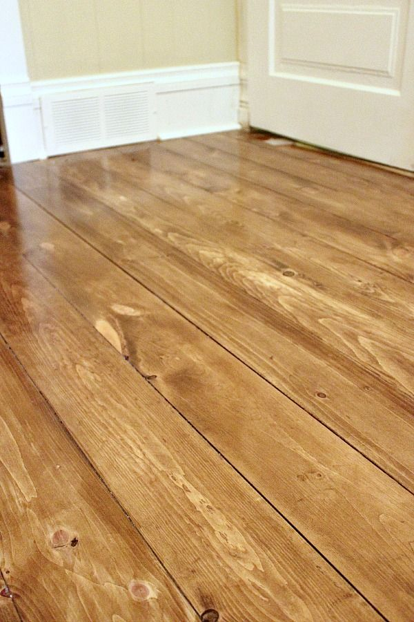 Installing Beautiful Wood Floors Using Basic Unfinished Lumber