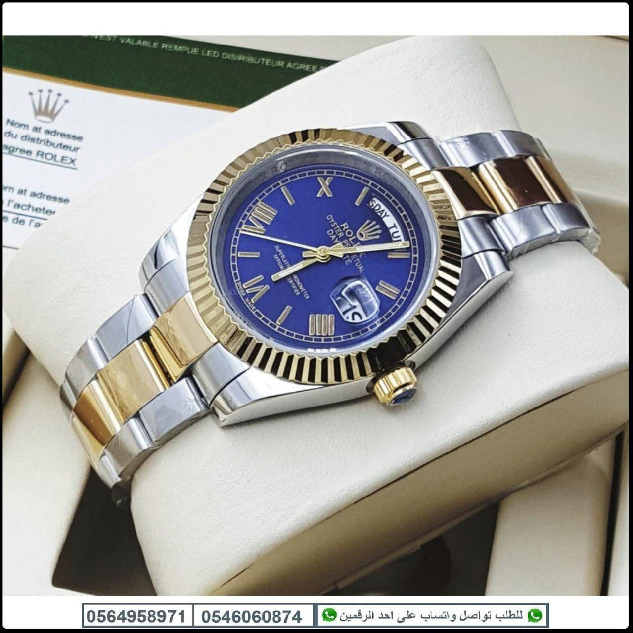 ساعات رولكس رجالي Rolex درجه اولى مع علبه مخمل هدايا هنوف Rolex Watches Omega Watch Watches