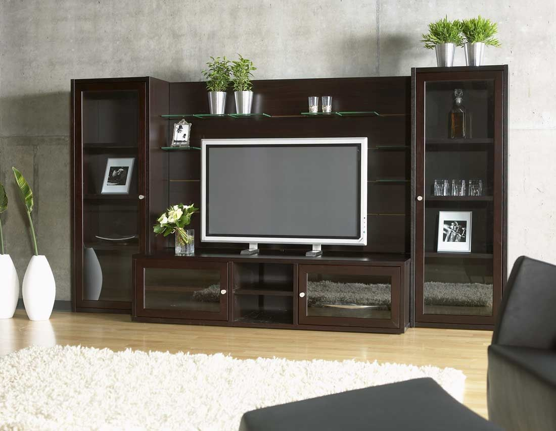 Tv entertainment wall units home living room wall - Wall units for living room mumbai ...