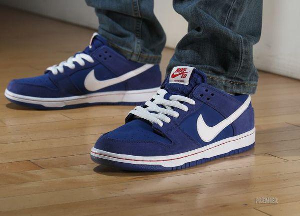 Women's Nike Wmns Dunk Low Skinny Deep Royal Blue Sneakers : Q17k4312