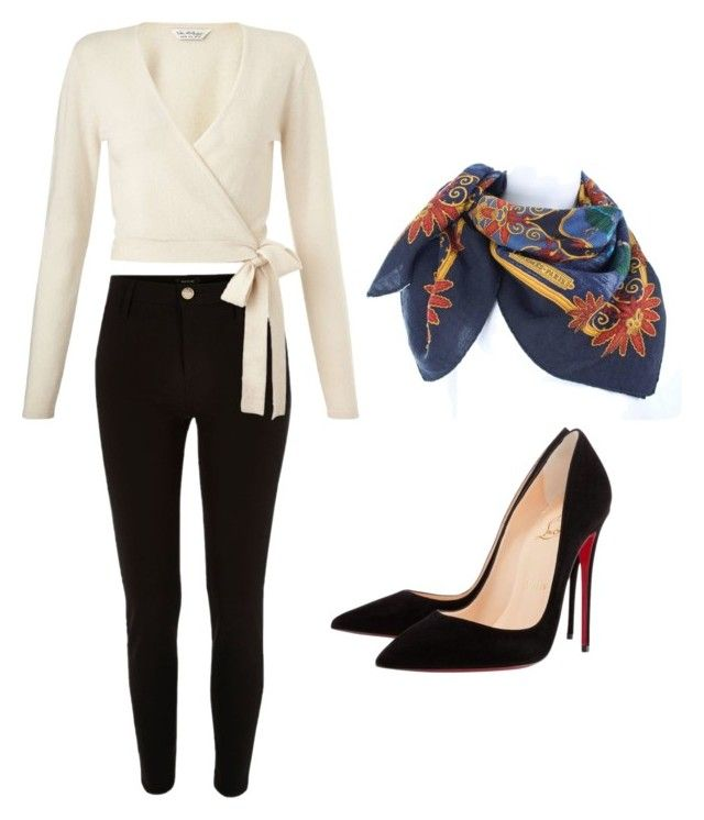 """""""Untitled #1"""" by mstlvshpest on Polyvore featuring River Island, Miss Selfridge, Christian Louboutin and Hermès"""
