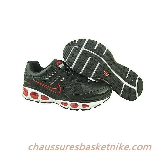 new styles fe814 343ed ... Nike Air 2010 Chaussures en cuir noir rouge blanc pas cher Max ...