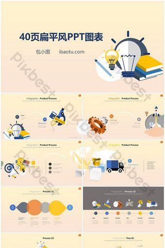 Template grafik PPT gaya bisnis 40 halaman | Powerpoint ...