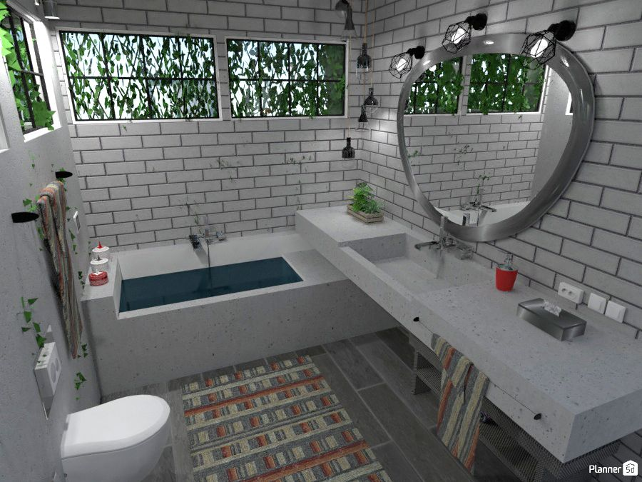 White Bathroom Interior Ideas Planner 5d Simple Bathroom