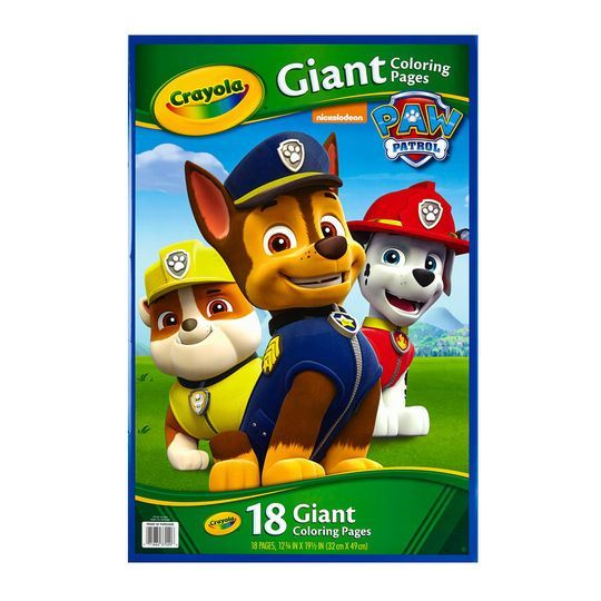 Crayola® Paw Patrol® Giant Coloring Pages   Michaels® - Paw patrol birthday card, Paw patrol birthday, Paw patrol goodie bags, Paw patrol favors bags, Paw patrol birthday party, Paw patrol party - Buy the Crayola® Paw Patrol® Giant Coloring Pages at Michaels  com  Inspired by Nickelodeon's Paw Patrol, these Crayola coloring pages will be the ideal gift for young artists  Inspired by Nickelodeon's Paw Patrol, these Crayola coloring pages will be the ideal gift for young artists  These giant coloring pages are easy to color, and offer the perfect activity for birthday parties and kids' gatherings  Details 12 75  x 19 5  18 giant coloring pages For ages 3 and up   Crayola® Paw Patrol® Giant Coloring Pages   Michaels®