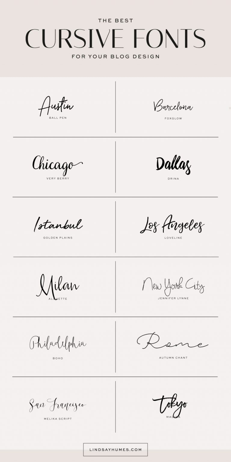 Lindsay Humes Designer Educator Technologist Best Cursive Fonts Cursive Fonts Beautiful Cursive Fonts