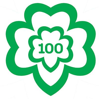 girl scouts centennial logo 2 causes pinterest rh pinterest co uk  girl scout emblem clip art
