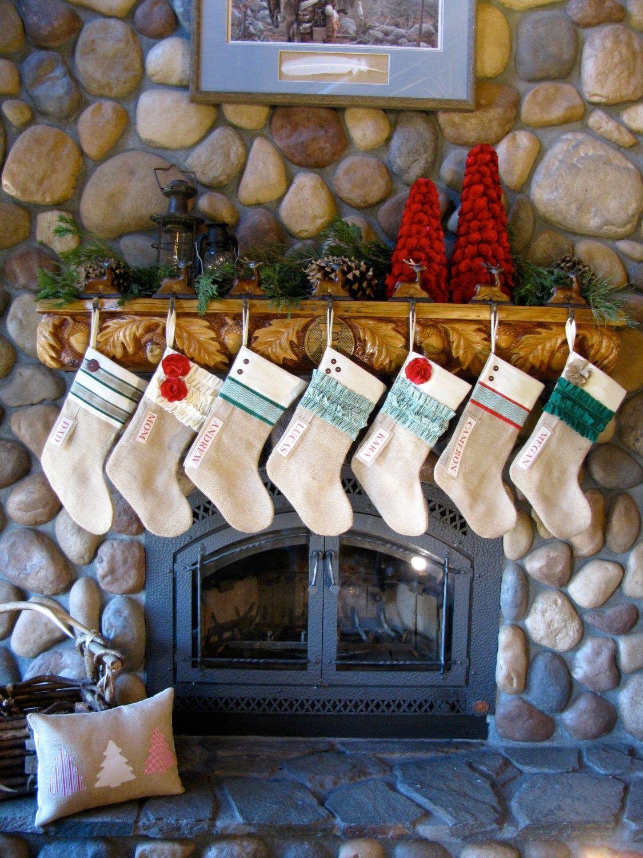 Custom Christmas Stocking Farmhouse Christmas stocking