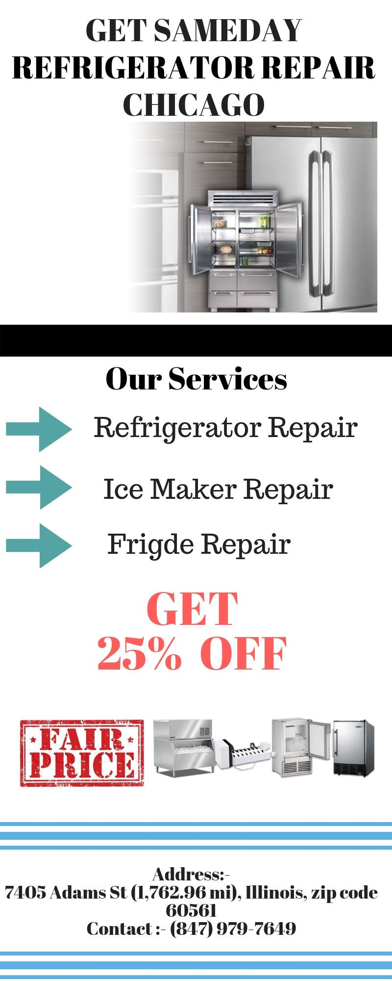 Get Same Day Refrigerator Repair With Images Refrigerator