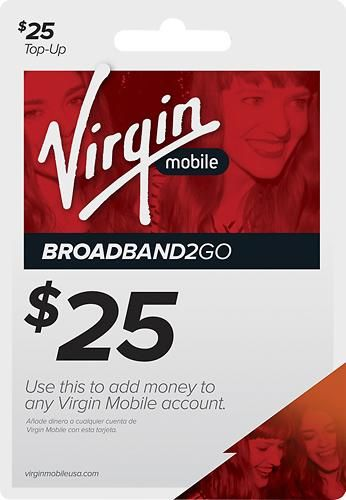 $25 Virgin Mobile Broadband2Go Top-Up Card | Free Giftcard 2016
